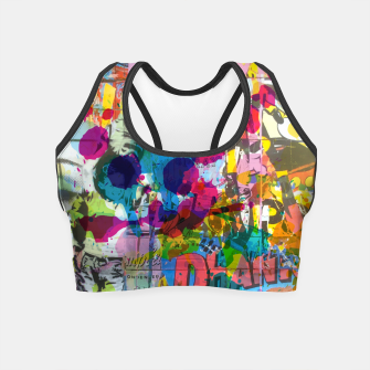Thumbnail image of Street Art Attack Crop Top, Live Heroes