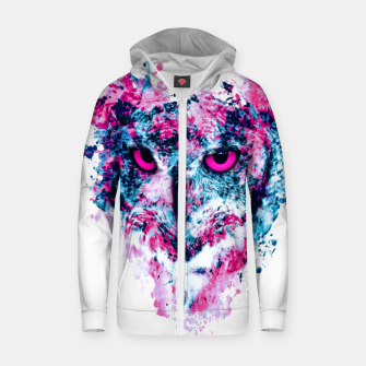 Thumbnail image of Owl IV Cotton zip up hoodie, Live Heroes