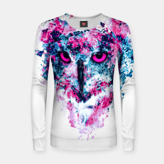 Thumbnail image of Owl IV Woman cotton sweater, Live Heroes