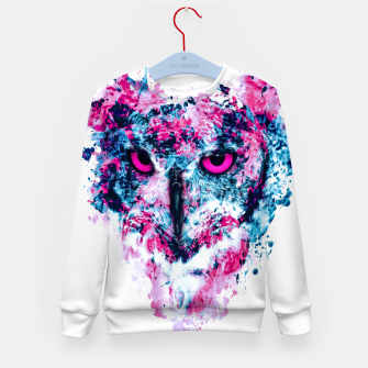 Thumbnail image of Owl IV Kid's sweater, Live Heroes