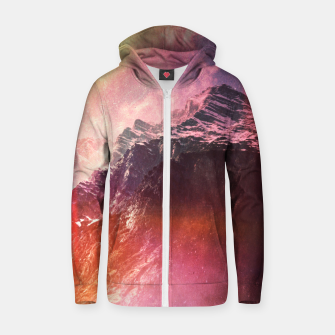 Thumbnail image of Keep Climbing Cotton zip up hoodie, Live Heroes