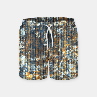 Thumbnail image of rust Swim Shorts, Live Heroes