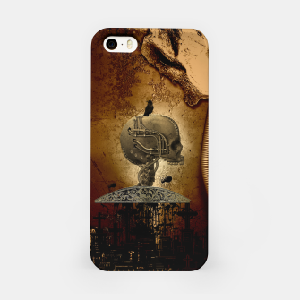 Miniatur Awesome mechanical skull with crow and spider iPhone Case, Live Heroes