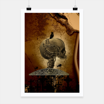 Miniatur Awesome mechanical skull with crow and spider Poster, Live Heroes
