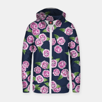 Thumbnail image of Peony Cotton zip up hoodie, Live Heroes
