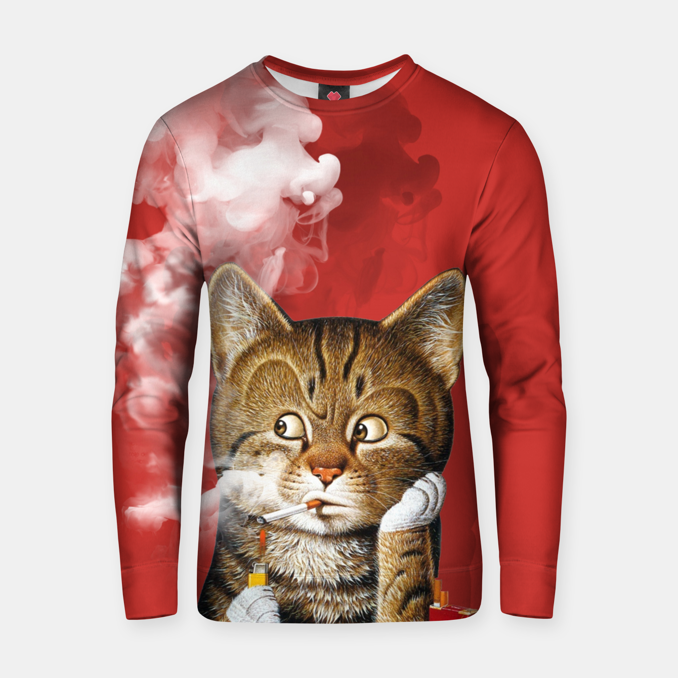 Image of Smoking Cat Cotton sweater - Live Heroes