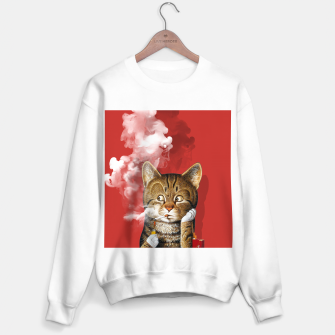 Thumbnail image of Smoking Cat Sweater regular, Live Heroes