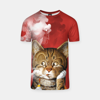 Thumbnail image of Smoking Cat T-shirt, Live Heroes