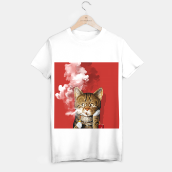 Thumbnail image of Smoking Cat T-shirt regular, Live Heroes
