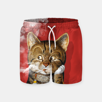 Thumbnail image of Smoking Cat Swim Shorts, Live Heroes
