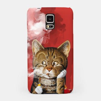 Thumbnail image of Smoking Cat Samsung Case, Live Heroes