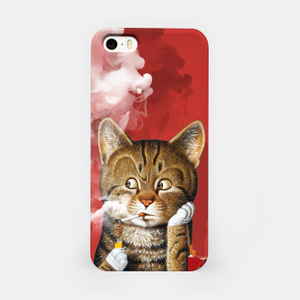 Thumbnail image of Smoking Cat iPhone Case, Live Heroes