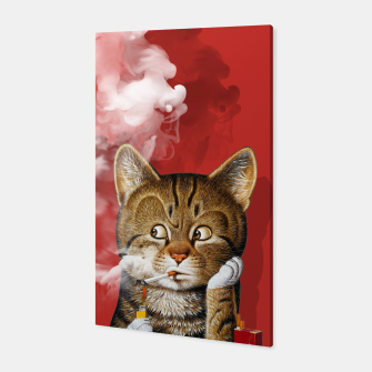 Thumbnail image of Smoking Cat Canvas, Live Heroes
