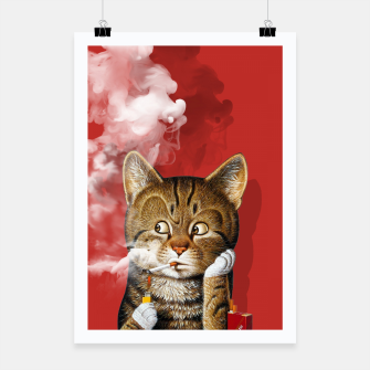 Thumbnail image of Smoking Cat Poster, Live Heroes