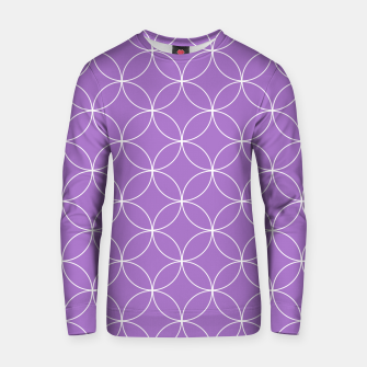 Thumbnail image of Abstract pattern - purple and white. Cotton sweater, Live Heroes
