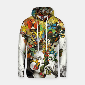 Thumbnail image of Butterfly Woman Cotton hoodie, Live Heroes