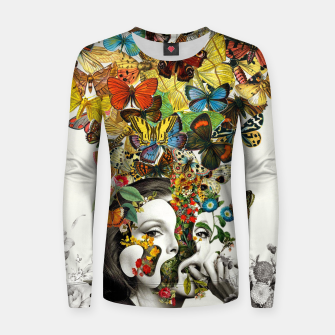 Thumbnail image of Butterfly Woman Woman cotton sweater, Live Heroes