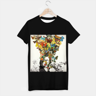 Thumbnail image of Butterfly Woman T-shirt regular, Live Heroes