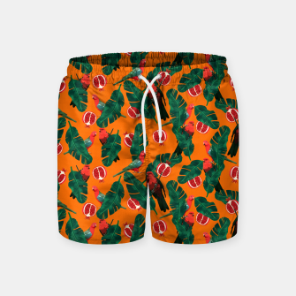Thumbnail image of Parrots in the jungle 01 Swim Shorts, Live Heroes