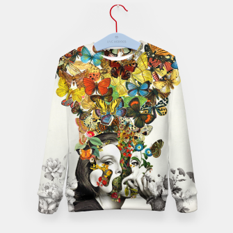 Thumbnail image of Butterfly Woman Kid's sweater, Live Heroes