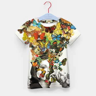 Thumbnail image of Butterfly Woman Kid's t-shirt, Live Heroes