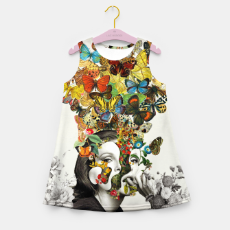 Thumbnail image of Butterfly Woman Girl's summer dress, Live Heroes