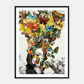 Thumbnail image of Butterfly Woman Framed poster, Live Heroes