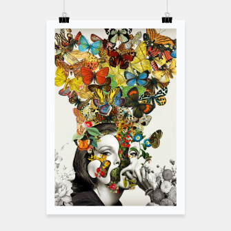Thumbnail image of Butterfly Woman Poster, Live Heroes