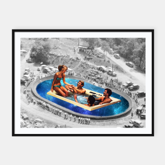 Miniatur Fun jacuzzi Framed poster, Live Heroes
