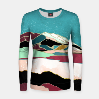 Thumbnail image of Teal Sky Woman cotton sweater, Live Heroes