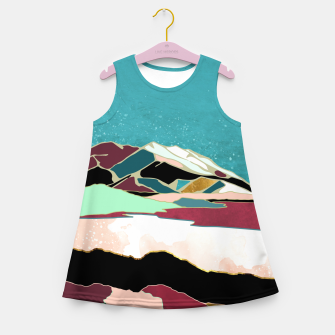 Thumbnail image of Teal Sky Girl's summer dress, Live Heroes