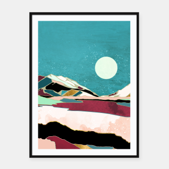 Thumbnail image of Teal Sky Framed poster, Live Heroes