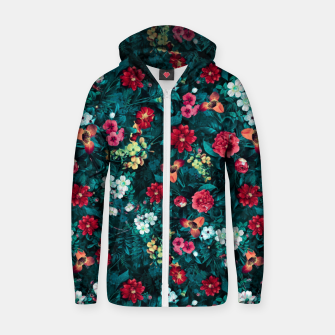 Thumbnail image of The Midnight Garden II Cotton zip up hoodie, Live Heroes