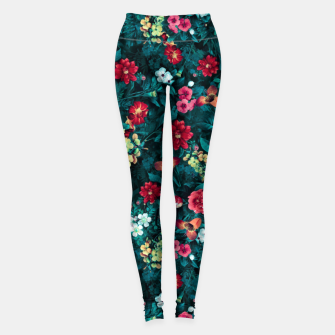 The Midnight Garden II Leggings Bild der Miniatur