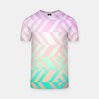 Thumbnail image of Chevron pattern T-shirt, Live Heroes