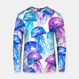 Watercolor Jellyfish Print Cotton sweater Bild der Miniatur