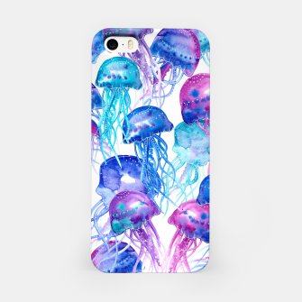 Watercolor Jellyfish Print iPhone Case Bild der Miniatur