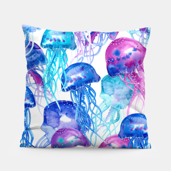 Watercolor Jellyfish Print Pillow Bild der Miniatur