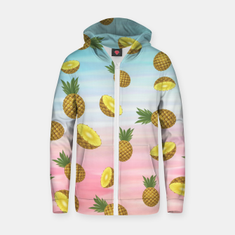 Thumbnail image of Cute pineapples Cotton zip up hoodie, Live Heroes