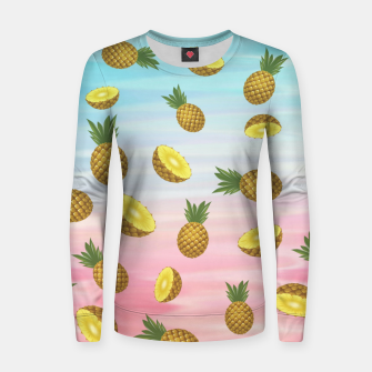 Miniaturka Cute pineapples Woman cotton sweater, Live Heroes