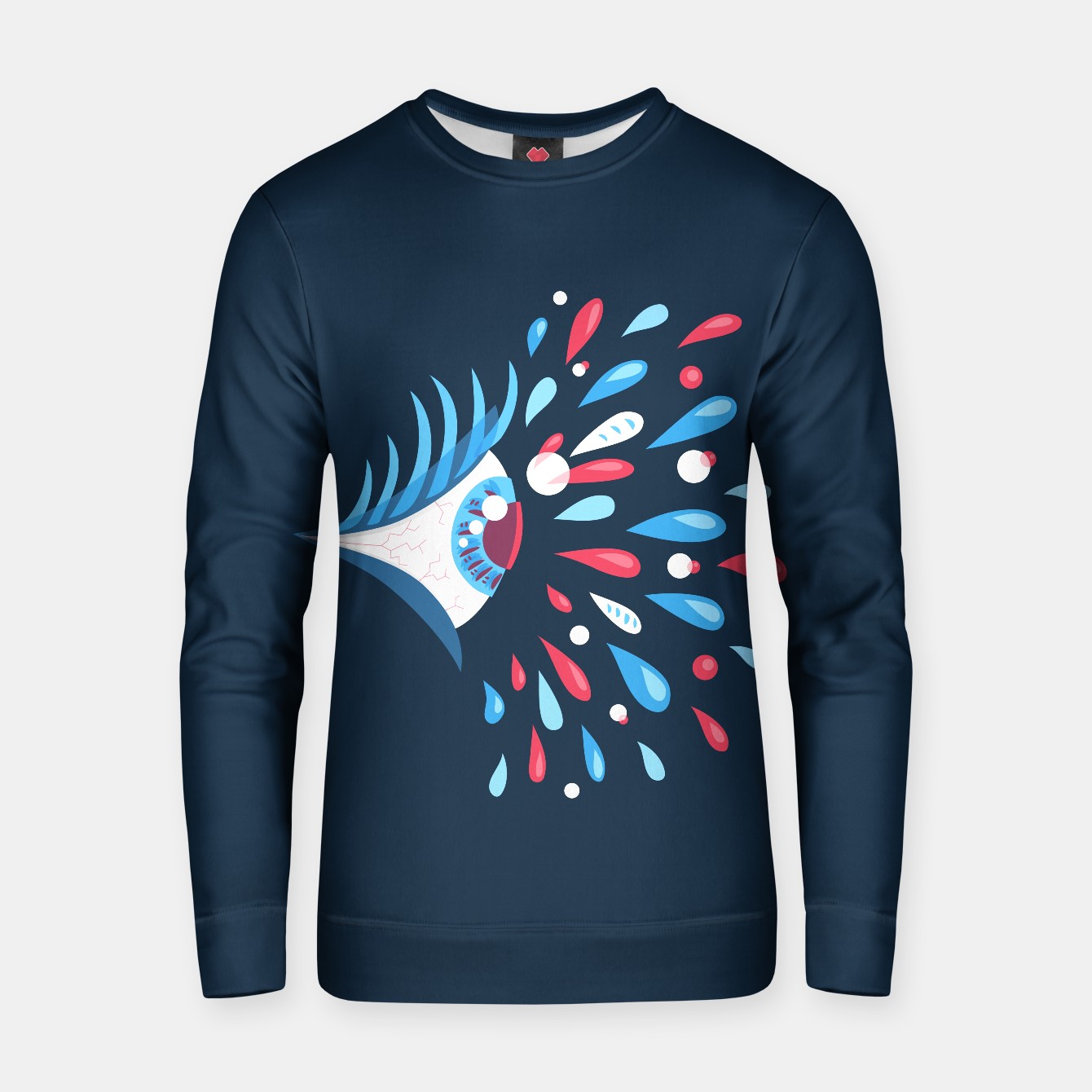 Image of Weird Blue Psychedelic Eye Cotton sweater - Live Heroes