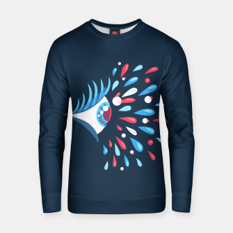 Weird Blue Psychedelic Eye Cotton sweater thumbnail image