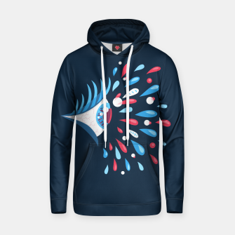 Thumbnail image of Weird Blue Psychedelic Eye Cotton hoodie, Live Heroes