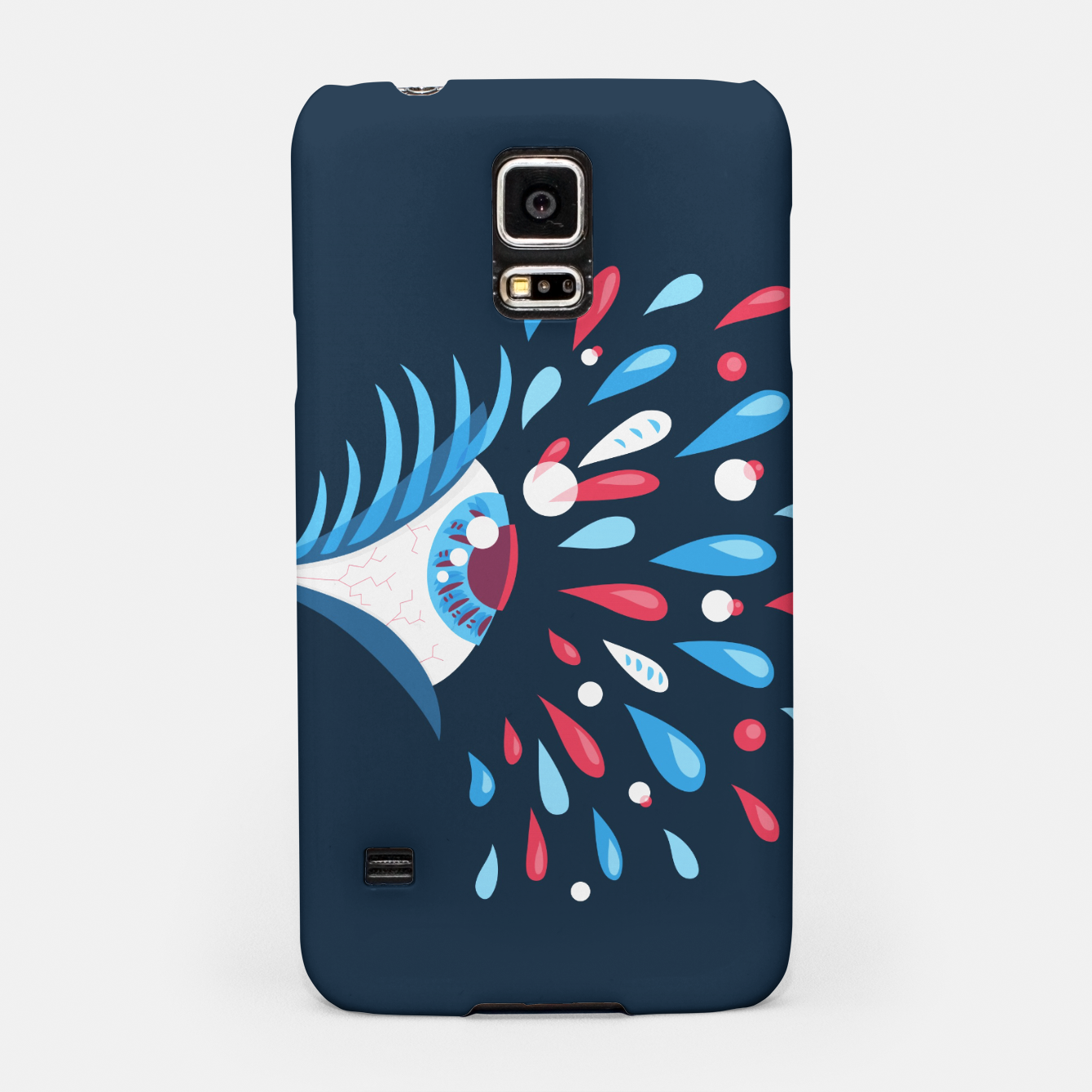 Image of Weird Blue Psychedelic Eye Samsung Case - Live Heroes
