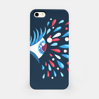 Weird Blue Psychedelic Eye iPhone Case thumbnail image