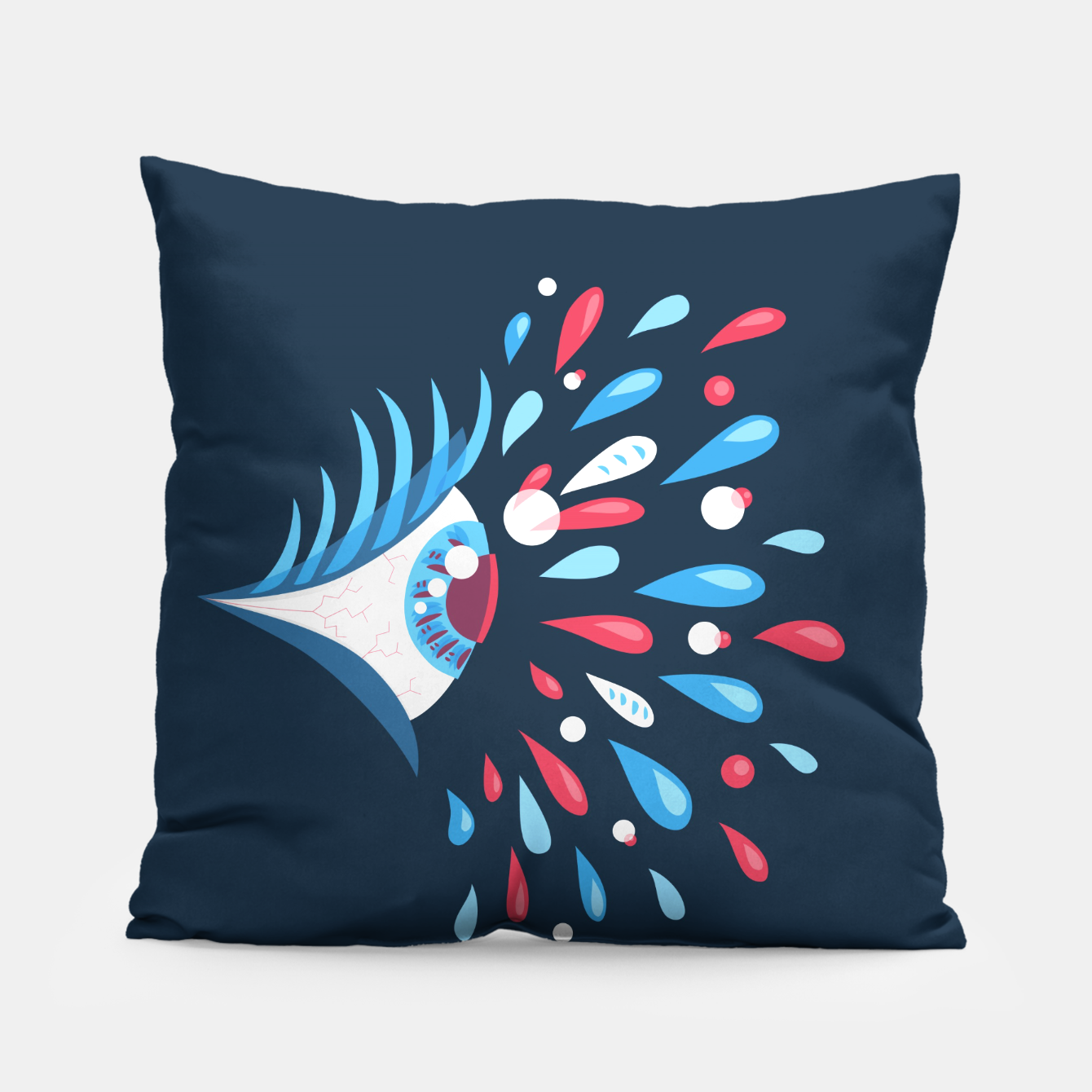 Image of Weird Blue Psychedelic Eye Pillow - Live Heroes