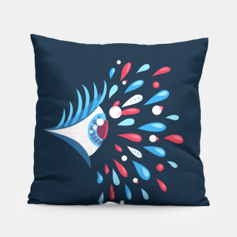 Thumbnail image of Weird Blue Psychedelic Eye Pillow, Live Heroes