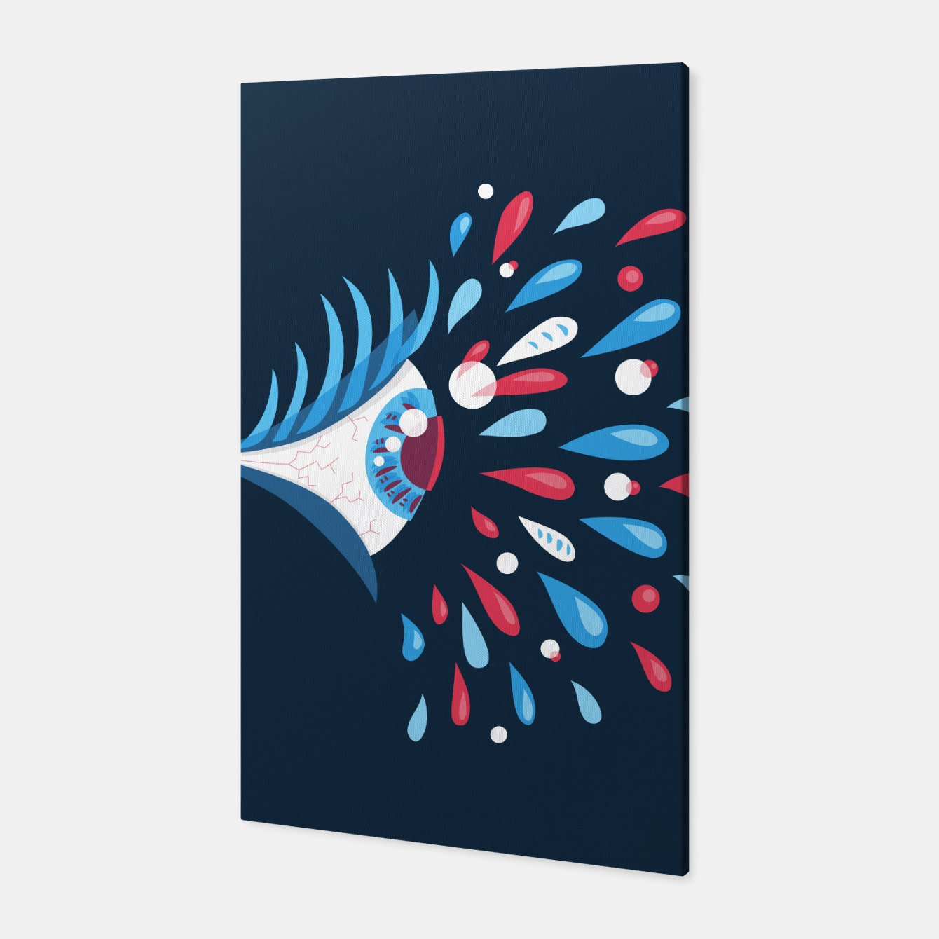 Image of Weird Blue Psychedelic Eye Canvas - Live Heroes