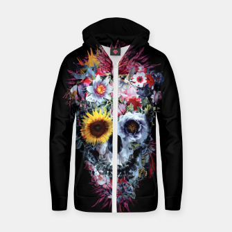Thumbnail image of SKULL VOODOO DARK Cotton zip up hoodie, Live Heroes