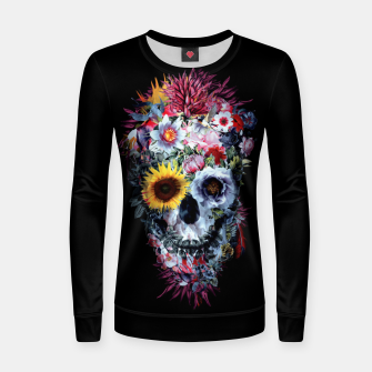 Thumbnail image of SKULL VOODOO DARK Woman cotton sweater, Live Heroes